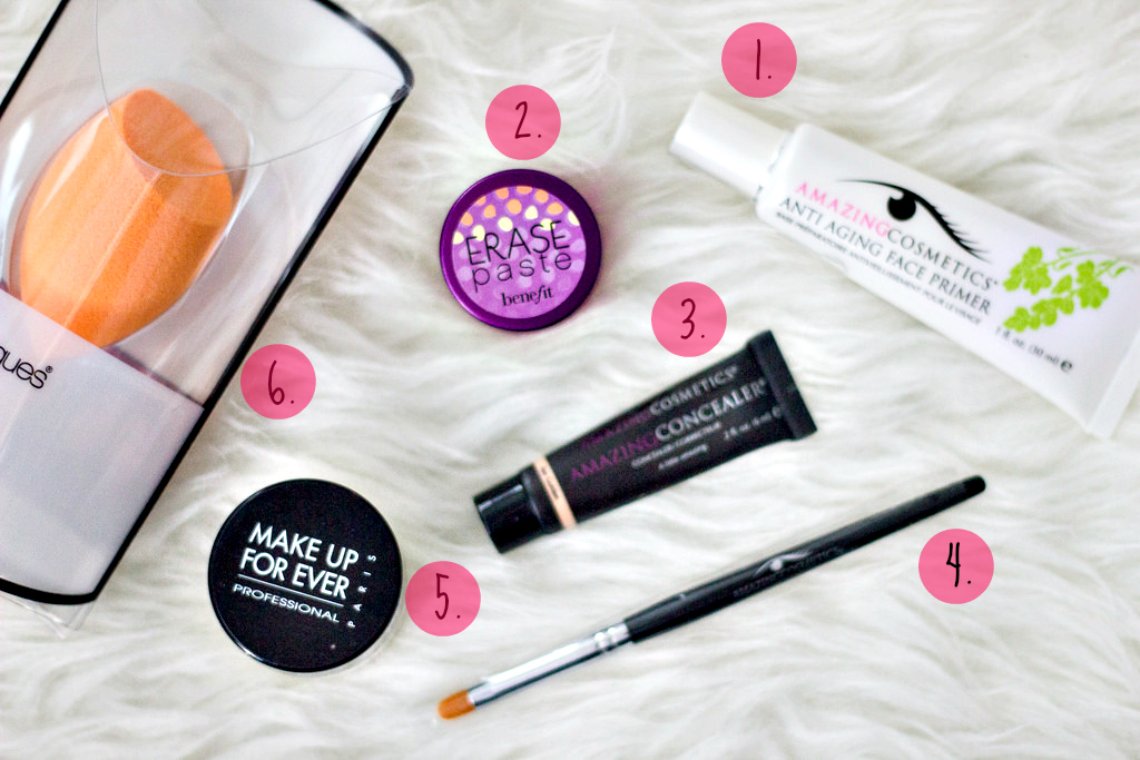 Miami beauty blogger, Ulta Beauty, Amazing Cosmetics amazing concealer, Benefit Cosmetics erase paste concealer